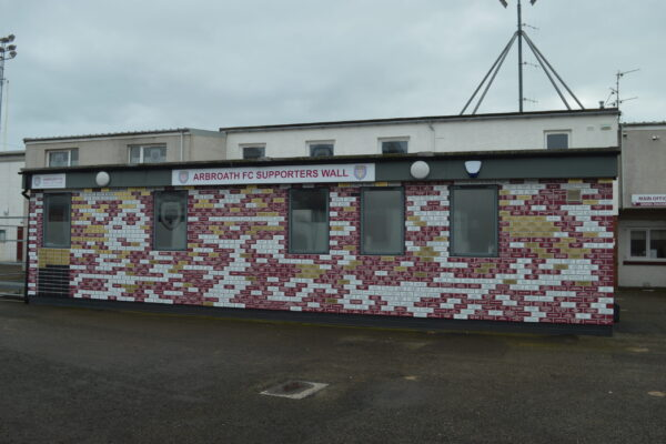 Looking at the Arbroath FC supporters wall