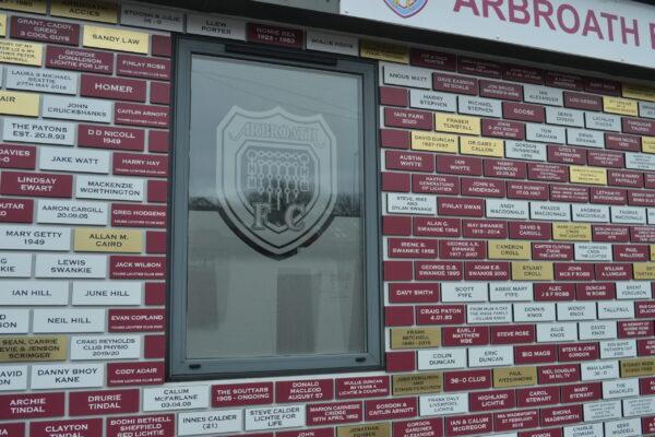 Outside the Arbroath FC club shop