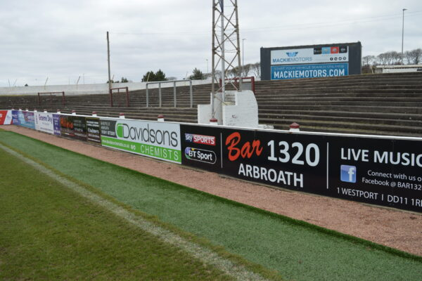 Selection of boards at Gayfield