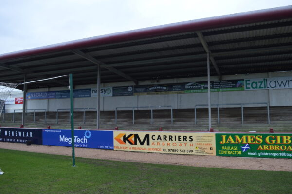 Number of advertising boards at Gayfield