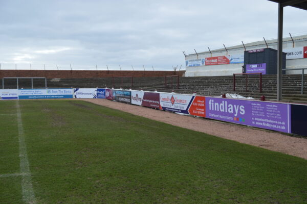 One of the corners at Gayfield