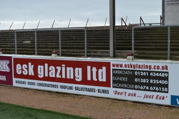 ESK Glazing Ltd sign at Gayfield