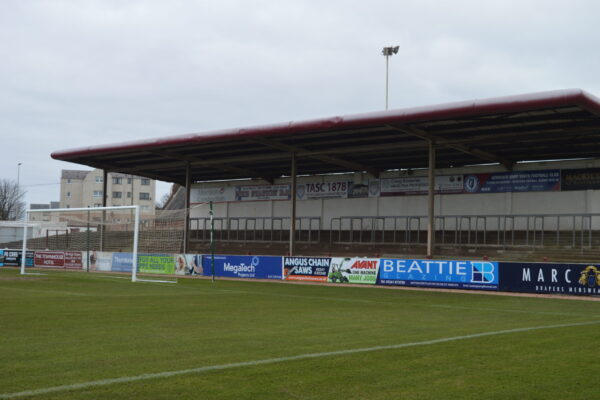 One of the stands at Gayfield