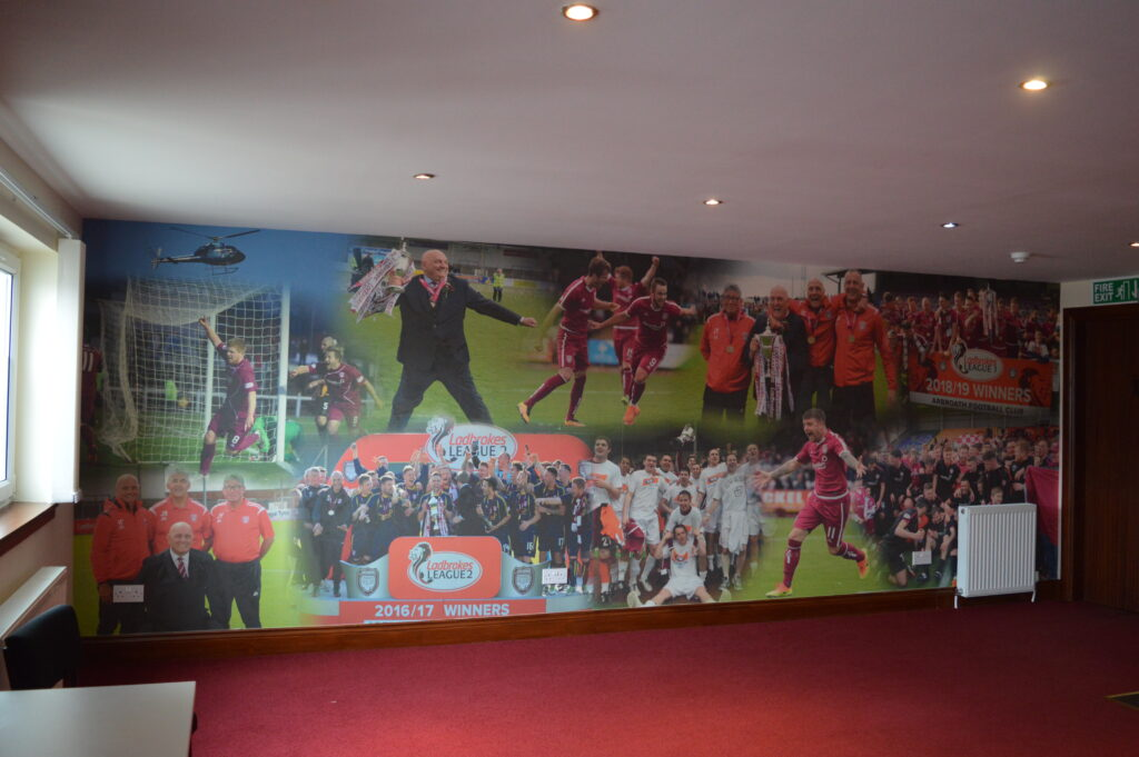 Full wall canvas at Arbroath FC