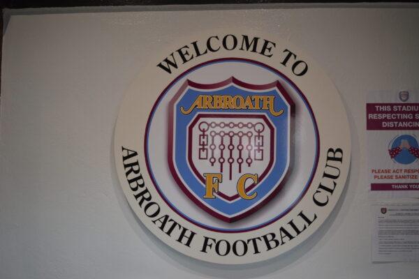 Welcome to Arbroath FC wall singage