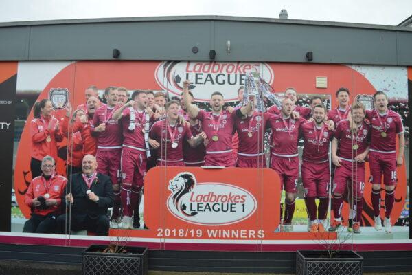 Banner for Arbroath FC 2018/19 Winners
