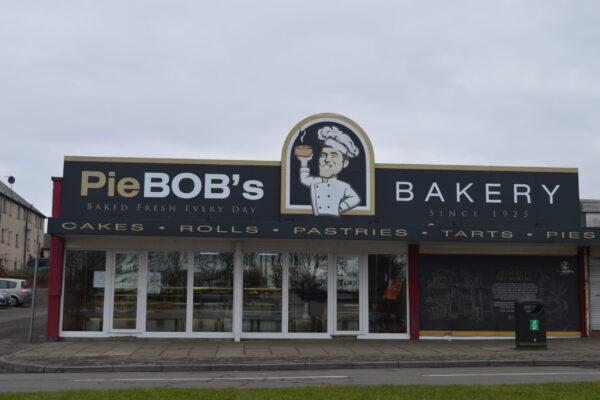Outside of Pie Bobs bakery in Arbroath