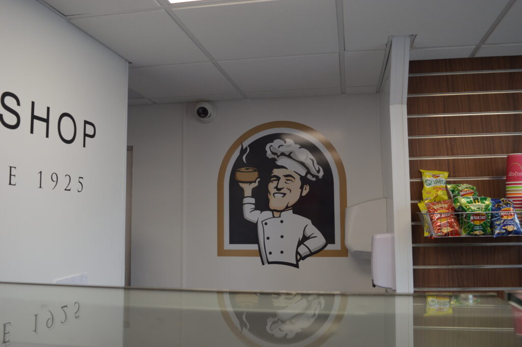 Wall graphic for Pie Bobs